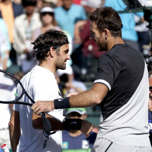 Juan Martin Del Potro vann över Roger Federer i Indian Wells.