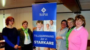 Gunilla Huhta, Maj-Britt Skogberg, Sonja Burman, Tea Brusas och Catarina Bäckstrand