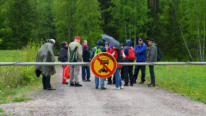 Deltagarna samlas för start