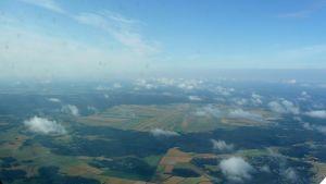 Söderfjärden fotograferad från ett flygplan