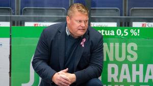 Pekka Virta i Lukkos bås 2020.