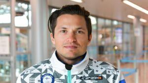 Marcus Sandell i Finlands OS-dress.