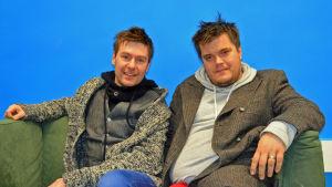 Musiker Thomas Lundin och keyboardist Tomas Enroth