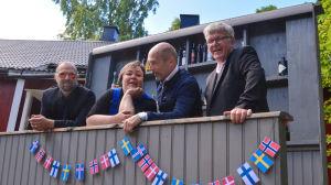Kalle Katz, Katarina NIskanen, Mats Nybondas och Kim Svenskberg