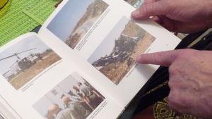 bilderbok med fotografier tagna i Libanon på 1980-talet