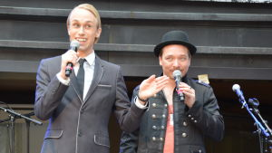"Christoffer ""Alexander Stubb"" Strandberg och Fredrik Furu."