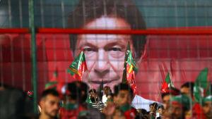 Den pakistanska oppositionsledaren Imran Khan.