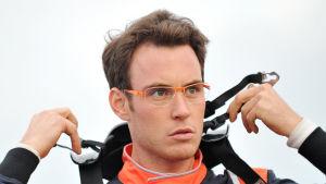 Thierry Neuville under VM-rallyt i Polen.
