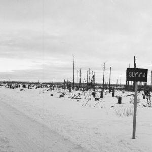 Summan kylä jatkosodan jälkeen.