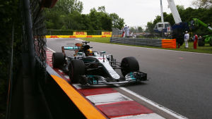 Lewis Hamilton snabbast i tidskvalet i Kanada.