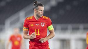 Gareth Bale i en match mot Finland.