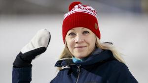 Kaisa Mäkäräinen har under den här säsongen fungerat som tv-expert.