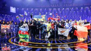 Länderna som gick vidare från semifinal 1 i Eurovision 2017.