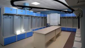 Bild på Englands omklädningsrum i Zelenogorsk år 2018.