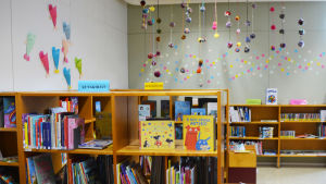 Barnavdelningen på Lovisa bibliotek.