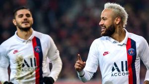 Neymar firar mål i PSG.
