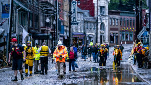 Ellicot City efter översvämning i maj 2018.