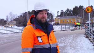 Mårten Lindström på Kyrkbron.