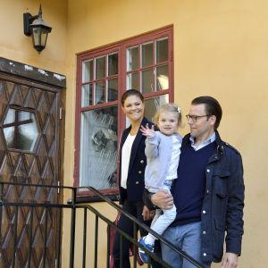 Prinsessan Estelle börjar på förskolan Äventyret på måndagen den 25.8.2014.