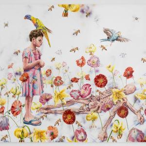 Linn Fernströms målning Reincarnation