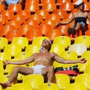 Tomma läktare vid friidrotts-VM 2013