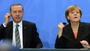 Erdogan och Merkel.