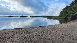 Strand i friluftsområdet Kopparnäs-Störsvik.