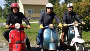 Andreas Holmgård, Tony Roos, Jan Sandberg