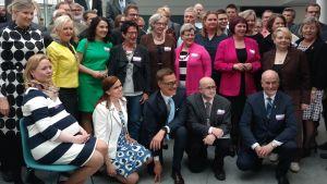 Stubb och samlingspartiet på partifullmäktigemöte 14.5 2016