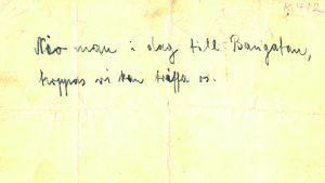 Texten på det vykort som läkaren Walter Cohen sände till Abraham Stiller.