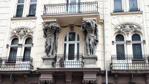 Husfasad i Lviv.