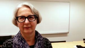 Pirkko Rautakoski, professor i logopedi vid Åbo Akademi.