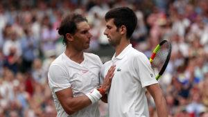 Rafael Nadal och Novak Djokovic.