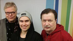 Esa Nieminen, Kalle Lindroth ja Jake Nyman Levylautakunnassa