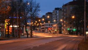 Tomma gator i Åbo centrum.