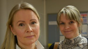 Susanne Agte och Ami Le Bell-Rönnlöf, två aktiva mammor i Sirkkala skola i Åbo.