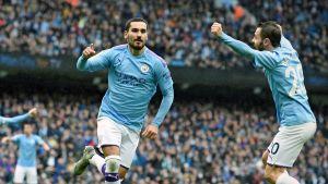 Ilkay Gündogan i Manchester City firar.