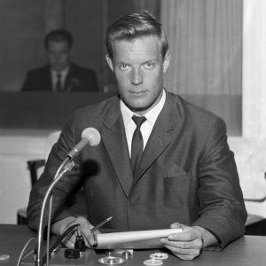 Uutisankkuri Heikki Kahila vuonna 1965
