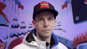 Janne Ahonen tävlar för andra gången i VM i Lahtis. År 2001 vann hans brons i normalbacken.