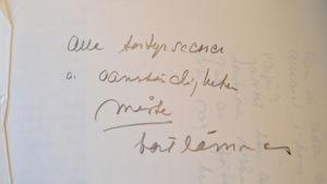 En av Gunveigs anteckningar.