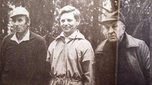 Erik Svens, Evert Salberger och Uno Forss.