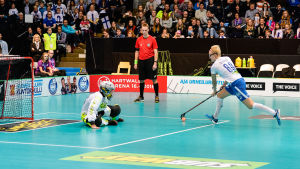 My Kippilä skjuter straff, VM-finalen 2015.