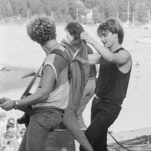 U2 på Ruisrock-scenen 1982.
