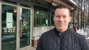 Kuvassa järjestyksenvalvontayritys Nyqsin toimitusjohtaja Jani Ylimäki.