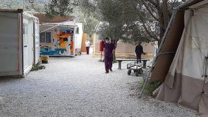 Läkare utan gränsers klinik på Lesbos