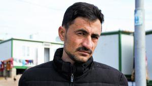 Yazidiska man i flyktingläger i norra Irak