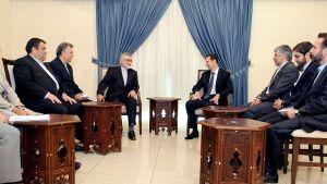 Syriens Bashar al-Assad och Iranska representanter i Damaskus i augusti