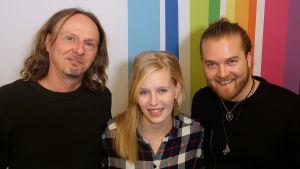 Juha-Pekka Sillanpää, Anna-Sofia Tuominen ja Teemu Roivainen Levylautakunnassa