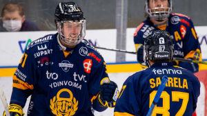 I FM-ligan har Eetu Koivistoinen och Aleksi Saarela haft lätt att hitta varandra .