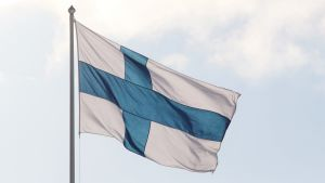 Finlands flagga.